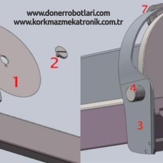 Döner Robotu Kesme Bıçağının Takılması ve Bileme